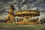 Amusements Photos - Round and Round by Rob Hawkins