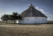 Historic Site Posters - Round Barn Kiowa KS Poster by Fred Lassmann
