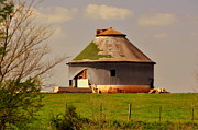 Round Barn Print by Marty Koch