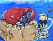Boxing Gloves Painting Prints - Round Eight Print by Howard Stroman