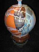 Featured Ceramics - Round Jar On Clay Pedestal by Michael Anthony-Nagy