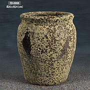Background Ceramics - Round Jar by Thien Phu Fine Arts
