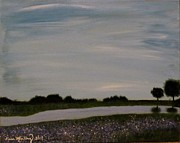 Country Art - Round Rock Reflections by Diana Martinez