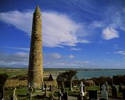 Monasticism Metal Prints - Round Tower, Ardmore, Co Waterford Metal Print by The Irish Image Collection