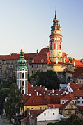 Cesky Krumlov Prints - Round Tower at Cesky Krumlov Castle Print by Jeremy Woodhouse