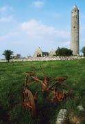 Field Stone Framed Prints - Round Tower, Kilmacduagh Near Gort, Co Framed Print by The Irish Image Collection