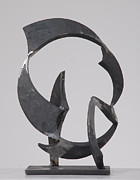 Steel Sculpture Sculptures - Round Up  by John Neumann