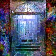 French Doors Digital Art Prints - Rounded Doors Print by Barbara Berney