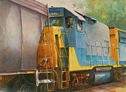 Coal Train Originals - Rounding the Curve by Thomas Sorrell
