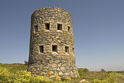 European Pyrography - Rousse tower -napoleonic fortified tower  - Isle of Guenrsey by Urft Valley Art