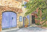 South Of France Paintings - Roussillion France by Sobeida Salomon