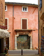 Provence Village Posters - Roussillon Painted Door Poster by Carla Parris