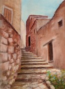 Wall Pastels Metal Prints - Roussillon Walk Metal Print by Anastasiya Malakhova