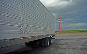Stop Sign Photos - Route 66 - Dixie Truck Stop by Frank Romeo