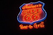 Americas Highway Prints - Route 66 Bar and Grill Print by Bob Christopher