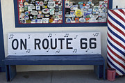 Wurlitzer Photos - Route 66 Bench by Bob Christopher