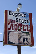 Wurlitzer Photos - Route 66 Copper State Motel by Bob Christopher