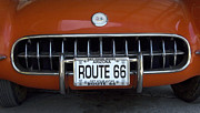 Fun Show Art - Route 66 Corvette Grill by Bob Christopher
