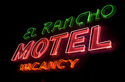Pinstriping Photos - Route 66 El Rancho by Bob Christopher