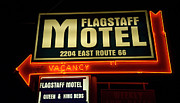 Highway Signs Framed Prints - Route 66 Flagstaff Motel Framed Print by Bob Christopher
