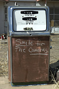 Wurlitzer Photos - Route 66 Gas Pump Humor by Bob Christopher