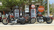 Fun Show Art - Route 66 Gas Pumps by Bob Christopher