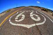 Pavement Prints - Route 66 Get Your Kicks Print by Bob Christopher