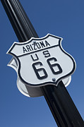 Americas Highway Prints - Route 66 Highway Sign Print by Bob Christopher