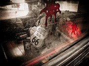 Horror Car Posters - Route 66 Poster by Jessica Brawley
