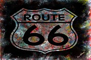 Highway Signs Framed Prints - Route 66 Framed Print by Louis Ferreira