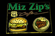 Kicks Prints - Route 66 Miz Zips Print by Bob Christopher