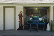 Pinstriping Photos - Route 66 Motel Arizona by Bob Christopher