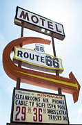 Pinstriping Photos - Route 66 Motel Sign 1 by Bob Christopher
