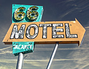 Gregory Dyer Posters - Route 66 Motel Sign Poster by Gregory Dyer