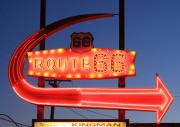 Mother Road Framed Prints - Route 66 Motel Sign Framed Print by Troy Montemayor