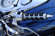 Americas Highway Prints - Route 66 Motorcycle Detail Print by Bob Christopher