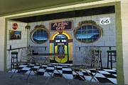 Pinstriping Photos - Route 66 Mural Seligman by Bob Christopher