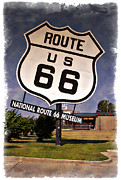Mother Road Framed Prints - Route 66 Museum - IMPRESSIONS Framed Print by Ricky Barnard
