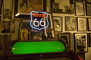 Pinstriping Photos - Route 66 Neon Sign 1 by Bob Christopher