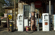 Route 66 Photos - Route 66 Pumps by Bob Christopher