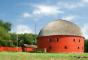 Round Barn Posters - Route 66 Round Barn Poster by Betty LaRue