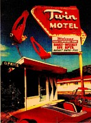 Motel Mixed Media Prints - Route 66 Three Print by Jay Fleming