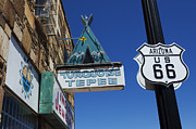 Wurlitzer Photos - Route 66 Turquoise Tepee by Bob Christopher