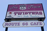 Wurlitzer Photos - Route 66 Twisters Sign by Bob Christopher