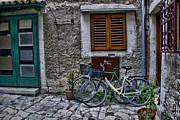 Cobblestone Prints - Rovinj Bicycles Print by Crystal Nederman