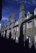 Cambridge Metal Prints - Row Houses Stand Huddled Together Metal Print by Taylor S. Kennedy