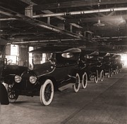 Detroit Industry Posters - Row Of Cadillac Touring Cars Come Poster by Everett