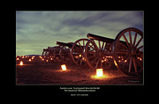 Memorial Illumination Framed Prints - Row of Cannon 98 Framed Print by Judi Quelland