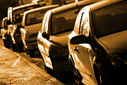 Black Car Prints - Row of Cars Print by Carlos Caetano