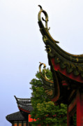 Historical Building Prints - Row of Chinese Rooftops Print by Christine Till